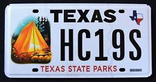 "TEXAS ""  STATE PARKS - TENT "" TX Specialty Graphic License Plate"