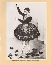 """1972 Vintage Currier & Ives """"LOLA MONTEZ as MARIQUITA"""" B&W Print Lithograph"""