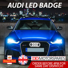 AUDI LED BADGE A3 A4 A5 A6 WHITE LIGHT FRONT GRILL GLOW LOGO EMBLEM RING