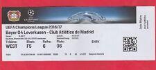 Orig.Ticket   Champions League  2016/17  BAYER 04 LEVERKUSEN - ATLETICO MADRID !
