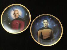 Picard Special: Two Star Trek Tng Hamilton Collector Plates, 1993 Picard + Data