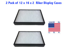 2 Pack Of 12 X 16 X 2 Riker Display Case Box For Collectibles Jewelry Arrowhead