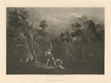 John Martin original mezzotint - Paradise Lost