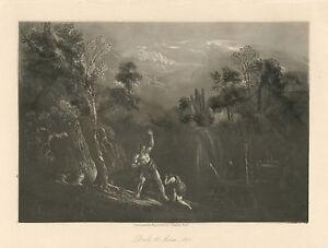 John Martin original mezzotint - Paradise Lost  5345467889