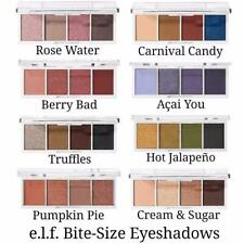 ELF Makeup BITE SIZE Pigmented QUAD EYESHADOW Mini Palettes 4 Shades VEGAN