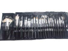 21 pcs Cosmetic Makeup Black Brush Professional Pouch Black Case Natural A
