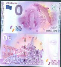 MARINELAND 2015 EPUISEE BILLET SOUVENIR ZERO 0 EURO  ETAT NEUF