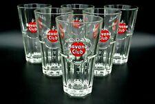 6 x Havana Club Exclusiv Gläser Rum Cocktailglas Mojito Gastro Glas Bar Deko Neu