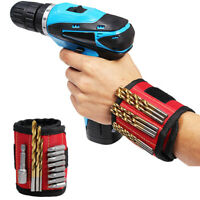 3 Magnetic Wristband Pocket Tool Belt Pouch Bag Screws Holding Working Helper UK