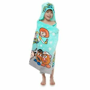 "Disney Toy Story Hooded Towel Wrap Bath Towel for Kids 25"" x 50"" NEW"