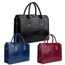 Genuine LYDC Croc Briefcase Handbag Office Work Bag Shoulder Bag Laptop GL8206D