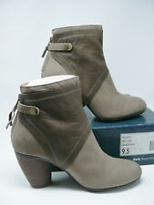Emu Australia Ankle Boots Womens 9.5 Leather Suede 2 Tone Sand Sable Nepean NIB