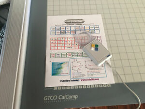 GTCO Calcomp Roll UP 30 x 36 Inch Active Area Digitizer Configured For STYLECAD