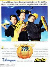 PUBLICITE ADVERTISING 066  1996 Hertz  location voiture Disneyland Paris