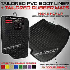 Audi A6 Saloon [Facelift] (C6) 2008 - 2011 Tailored PVC Boot Liner + Rubber Car