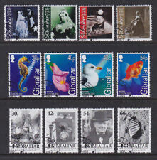 Gibraltar 2001 Used CTO 3 Full Sets Queen Victoria Churchill Nature Water Birds