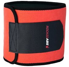Waist Trimmer Belt by Rocked Abs - Promotes Weight Loss - Black&Red