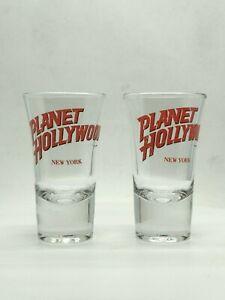 Planet Hollywood New York Shot Glass Set of 2