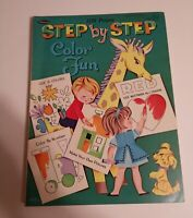 VINTAGE 1966 WHITMAN Step by Step Color Fun Coloring book 128 pages