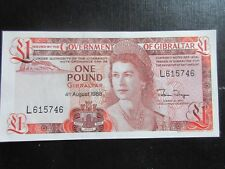 GIBRALTER 1973-86 ISSUE - £1 DATED 4.8.1988, UNCIRCULATED
