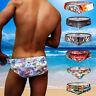 Mens Sexy Bikini Briefs Comics Hero Swimwear Trunks Swimming Shorts Beachwear