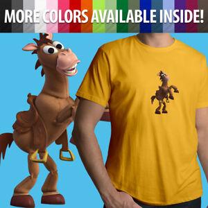 Unisex Mens Tee Crew T-Shirt Gift Print Woody's Horse Friend Bullseye Toy Story