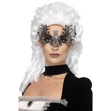 Women's Eye Mask Black Widow Wed Masquerade Ball Venetian Fancy Dress Hen Night