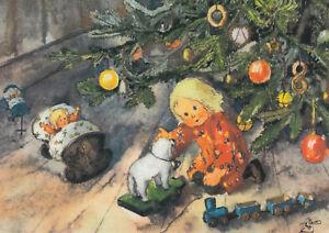 Kunstkarte: Mili Weber - So reich hat uns das Christkind beschenkt
