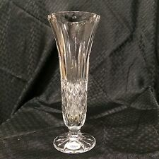 Gorham Crystal Footed Bud Vase Full Lead West Germany 7.75in Tall VTG