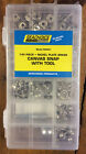 144 Piece Seachoice Marine Canvas Cover Snaps Snap Tool Repair KIT & Tool 59444