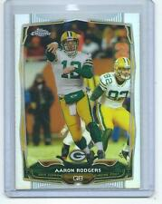 2014 Topps Chrome Football Card #083 Aaron Rodgers Green Bay Packers REFRACTOR!!