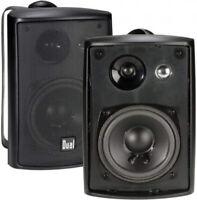 Dual Electronics LU43PB 3-Way High Performance Outdoor Indoor Speakers With Powe