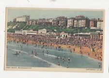 West Beach Bournemouth Vintage Postcard 501a