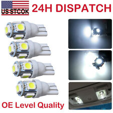 4PCS 360° T10 W5W 5SMD LED Wedge Light White Plate License 168 194 2825 Bulbs