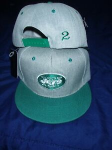 Zach Wilson Personalized #2  New York Jets  Green/Grey NFL SnapBack Hat - New!