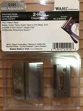 WAHL 2 HOLE CLIPPER BLADES FOR SENIOR/SUPER TAPER #2191