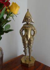 brass bronze jester Clown minstrel bust figure statue  art joker