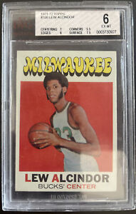 1971-72 Topps, #100, HOF Lew Alcindor, Milwaukee Bucks, BVG 6 EX-MT