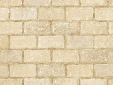 Natural Instincts Modern Contemporary Neutral Tones Brick Wallpaper NA016724