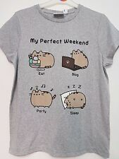 Pusheen The Cat T Shirt Top MY PERFECT WEEKEND Ladies Women's Primark Pusheen