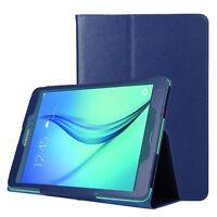 BOOK COVER SMART SAMSUNG GALAXY TAB A 9.7 SM-T550 T555 CASE  BLU PROTETTIVA BLUE