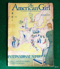 VINTAGE  GIRL SCOUT - 1932 AMERICAN GIRL - MARCH