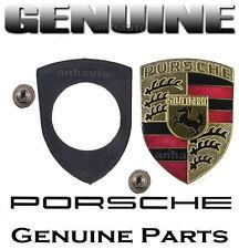 Genuine Porsche FRONT HOOD (1) Emblem + (1) Seal & (2) Retaining Nuts