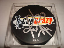 Kris Draper Signed Cup Crazy Hockey Puck Autographed Go Red Wings a