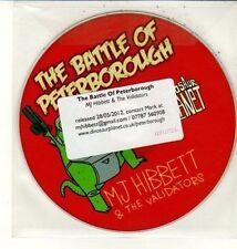 (DC814) The Battle of Peterborough, MJ Hibbett & The Validators - 2012 DJ CD