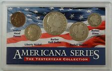 """""""Americana Series: Yesteryear Collection""""  w/ Silver Barber Half, Quarter + Dime"""