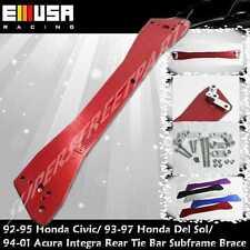 EMUSA  1994-2001 Acura Integra  Rear Tie Bar Subframe Brace RED