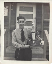 1940 CABINET PHOTO FT HUNT ALEXANDRIA VA CCC CAMP 2387 TROPHY WINNER CARL BIERER