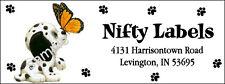 CUTE PUPPY & BUTTERFLY #46 LASER RETURN ADDRESS LABELS