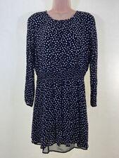 NEXT black white spotty polka dot chiffon mini tea dress size 18 euro 46